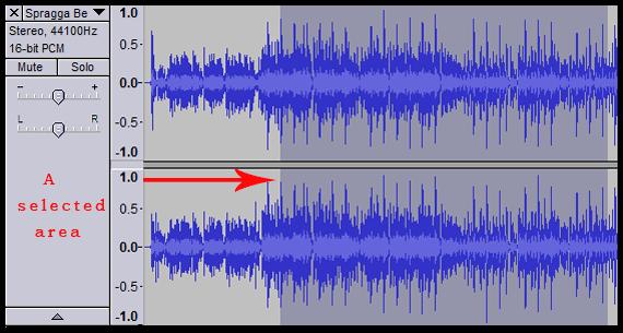 audio part selection