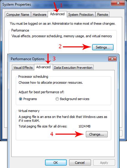 customizing pagefile