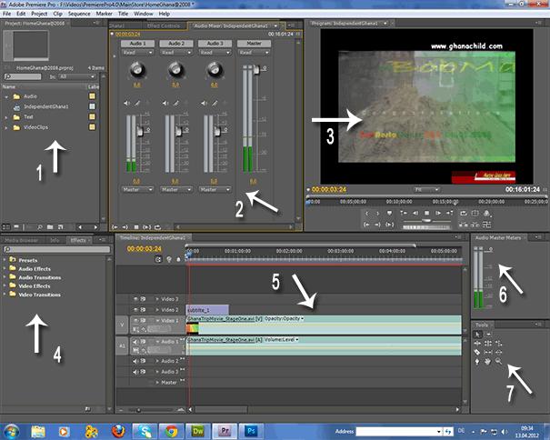 premiere pro cs4 interface